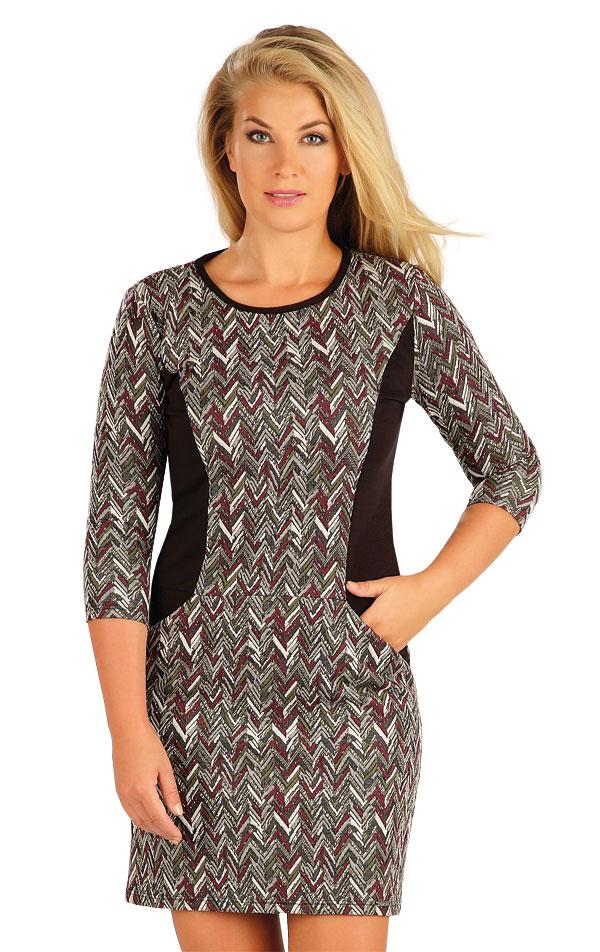 Šaty dámske s 3/4 rukávom. 60038 | Šaty, sukne, tuniky LITEX