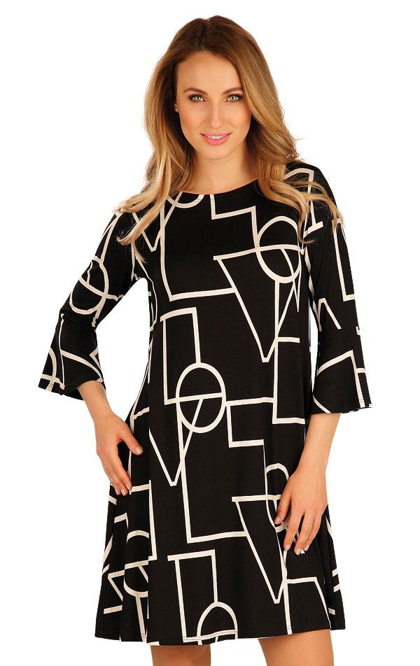 Šaty dámske s 3/4 rukávom. 60049 | Šaty, sukne, tuniky LITEX