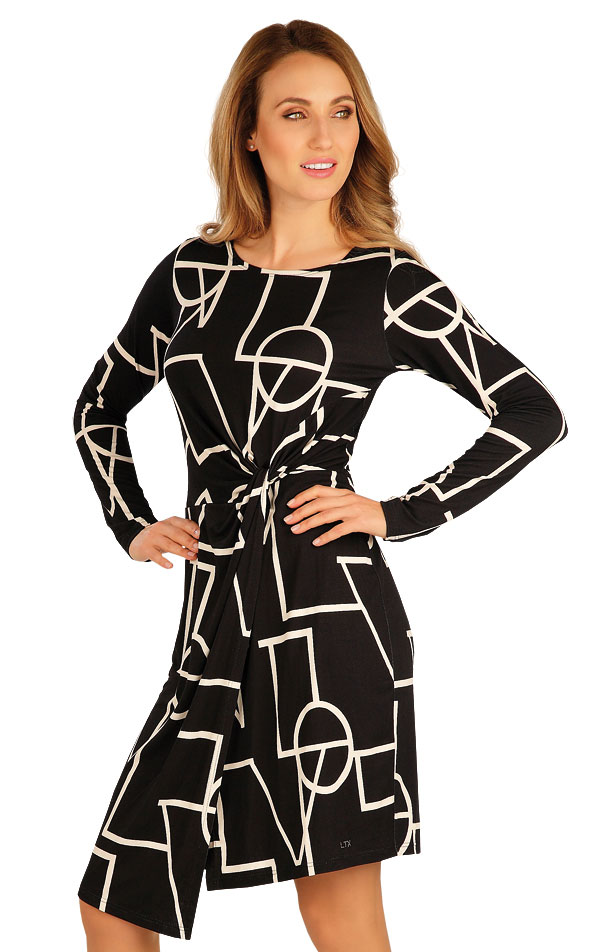 Šaty dámske s dlhým rukávom. 60050 | Športové oblečenie -  zľava LITEX