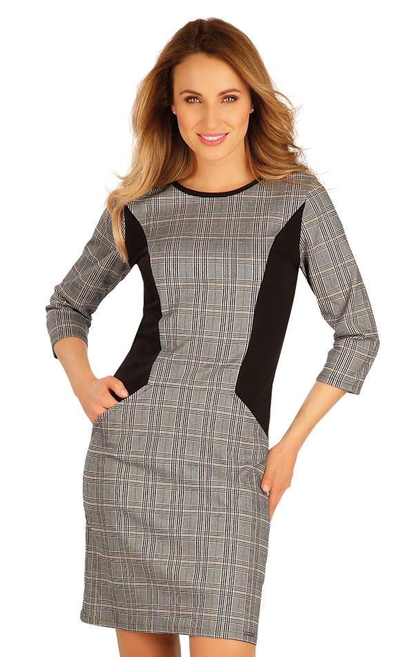 Šaty dámske s 3/4 rukávom. 60062   Šaty, sukne, tuniky LITEX