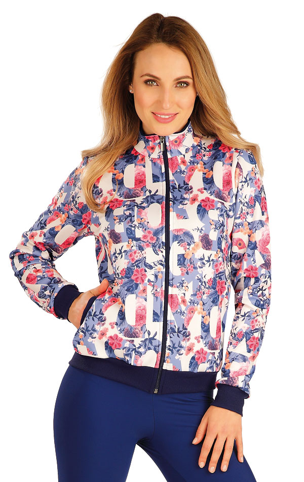 Mikina dámska na zips. 60234 | Športové oblečenie -  zľava LITEX