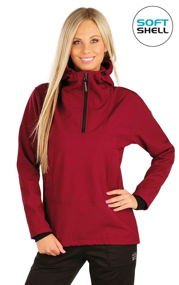 Bunda dámska softshellová s kapucňou. 60273 | Športové oblečenie -  zľava LITEX