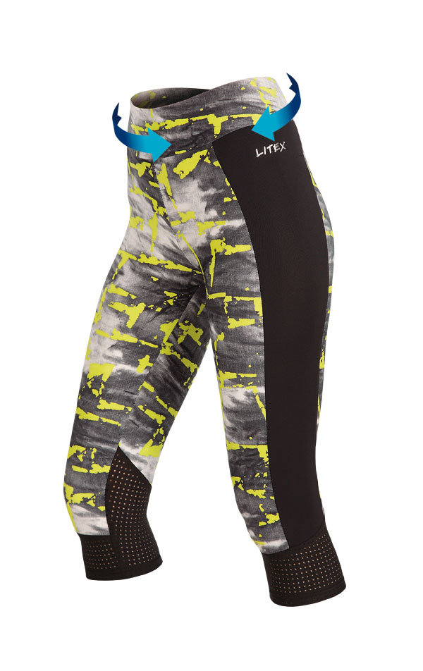 Legíny dámske v 3/4 dĺžke. 60429   Športové oblečenie -  zľava LITEX