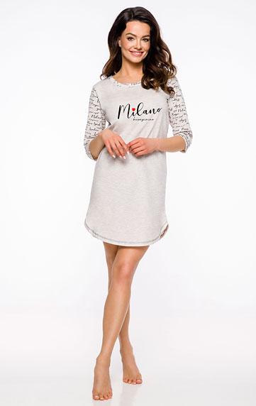 Pyžamá, nočné košele > Dámska nočná košieľka s 3/4 rukávom. 60618