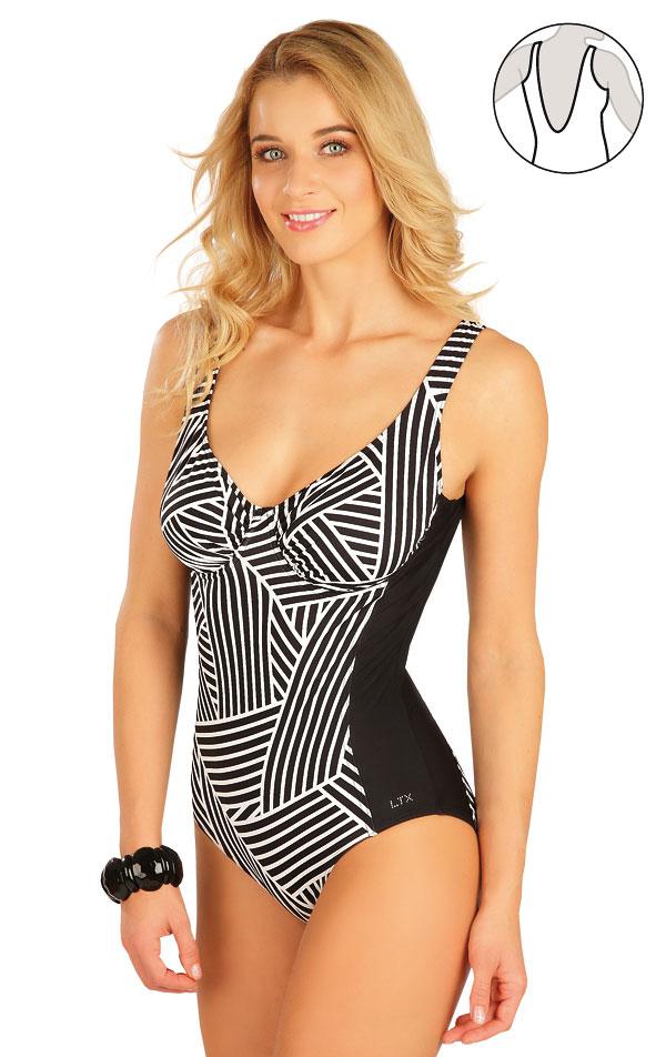 Jednodielne plavky s kosticami. 63416 | Jednodielne plavky LITEX