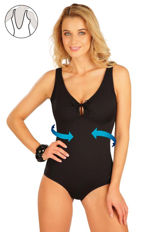 Stahující jednodílné plavky s kosticemi. 63510 | Jednodielne plavky LITEX
