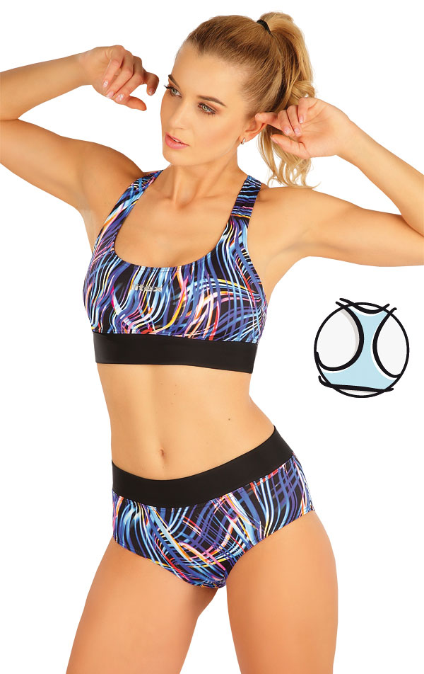 Plavkový športový top bez výstuže. 63518 | Športové plavky LITEX