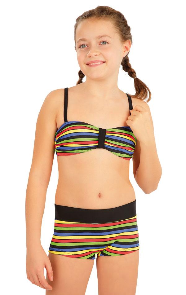 Plavkový top dievčenský. 63601   Dievčenské plavky LITEX