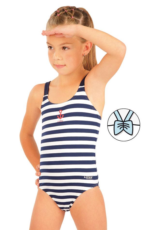 Jednodielne dievčenské plavky. 63617 | Dievčenské plavky LITEX
