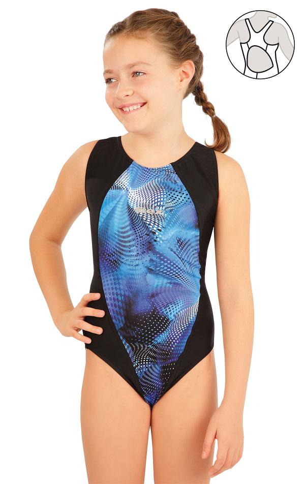 Dievčenské jednodielne športové plavky. 63637 | Dievčenské plavky LITEX