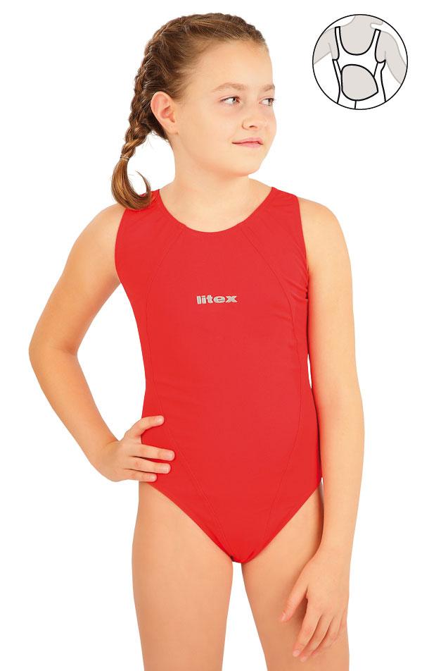 Dievčenské jednodielne športové plavky. 63640 | Dievčenské plavky LITEX