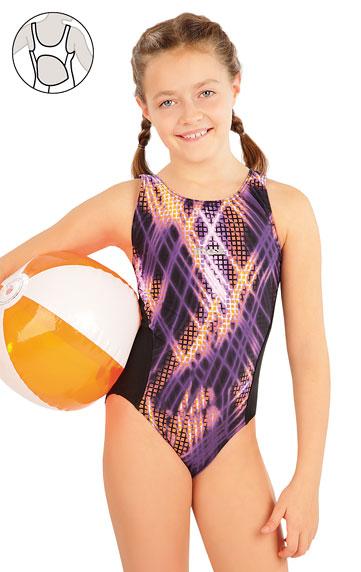 Dievčenské plavky > Dievčenské jednodielne športové plavky. 63649