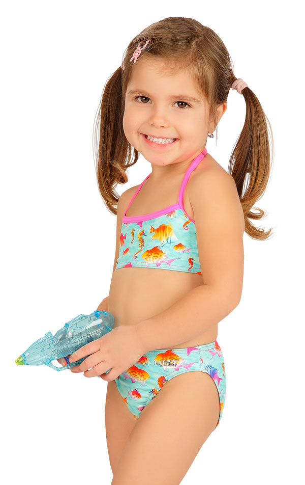 Dievčenské plavkové nohavičky stredne vysoké. 6B407 | Dievčenské plavky LITEX