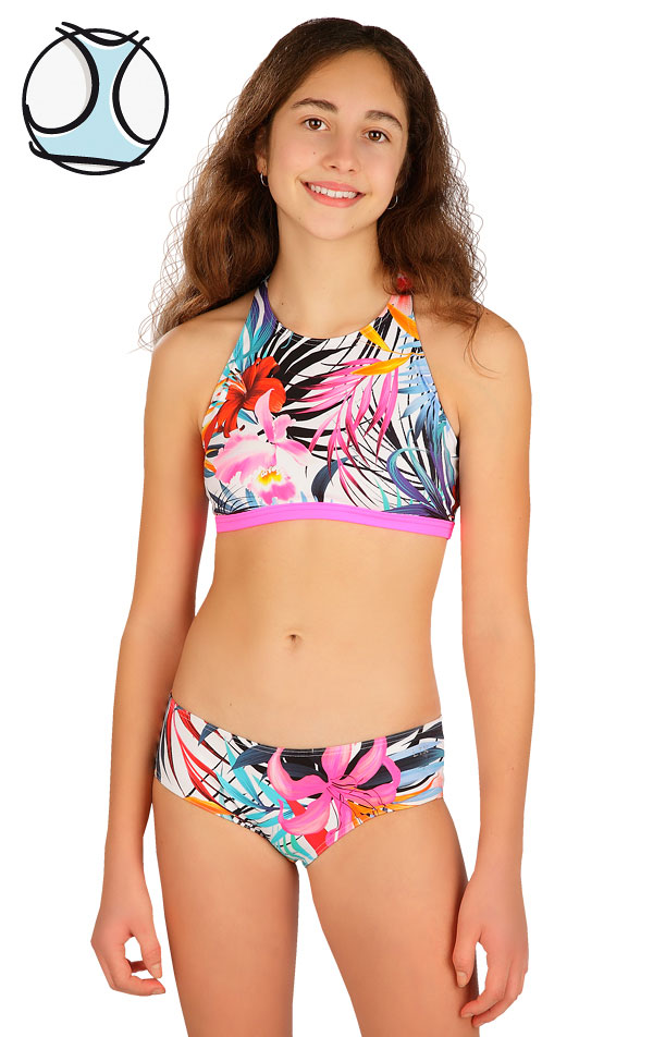 Plavkový top dievčenský. 6B420 | Dievčenské plavky LITEX