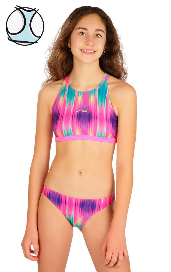 Plavkový top dievčenský. 6B428   Dievčenské plavky LITEX