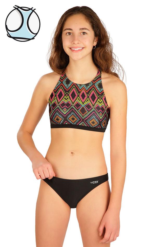 Plavkový top dievčenský. 6B455 | Dievčenské plavky LITEX