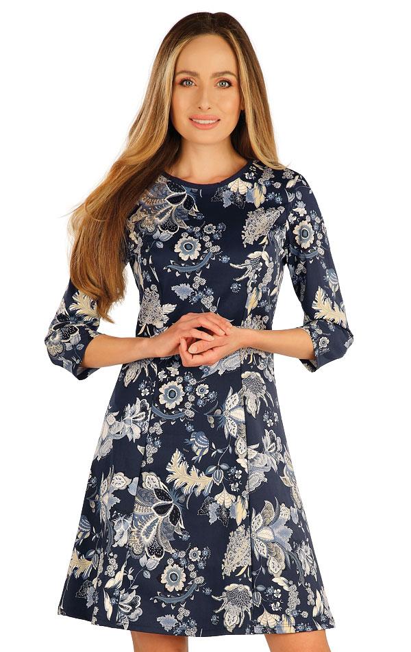 Šaty dámske s 3/4 rukávom. 7A003 | Šaty, sukne, tuniky LITEX
