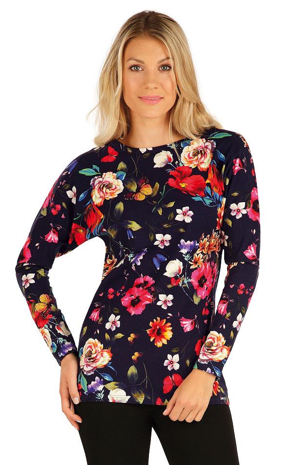 Tričko dámske s dlhým netopierim rukávom. 7A006 | Tielka, trička, halenky LITEX