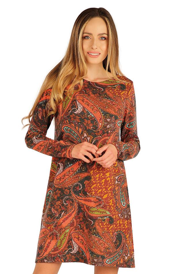 Šaty dámske s dlhým rukávom. 7A012   Šaty, sukne, tuniky LITEX