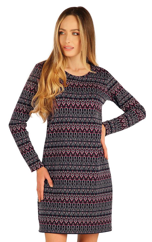 Šaty dámske s dlhým rukávom. 7A042 | Šaty, sukne, tuniky LITEX