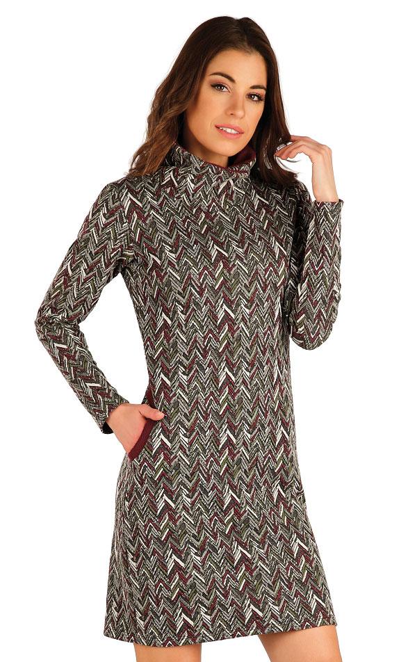 Mikinové šaty s dlhým rukávom. 7A048 | Šaty, sukne, tuniky LITEX