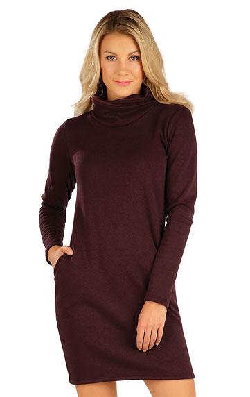 Mikinové šaty s dlhým rukávom.
