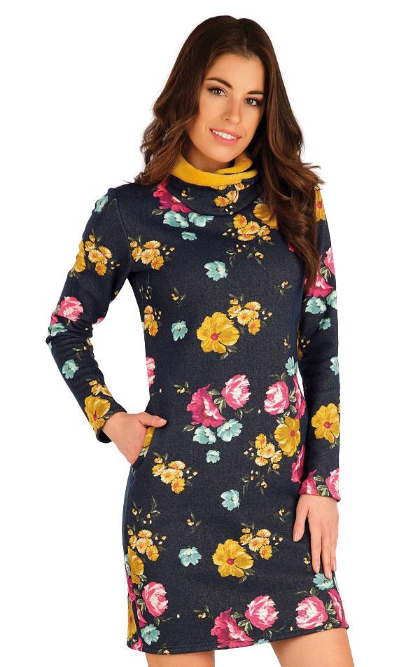 Mikinové šaty s dlhým rukávom. 7A076   Šaty, sukne, tuniky LITEX