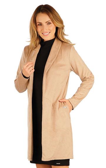 Kabátik dámsky s dlhými rukávmi.
