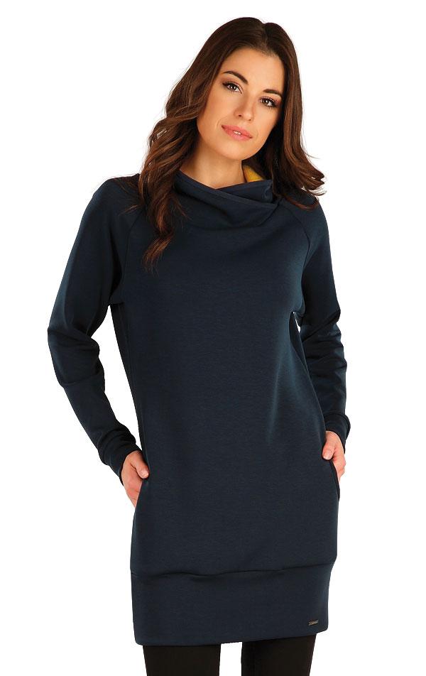 Mikinové šaty s dlhým rukávom. 7A127   Mikiny, roláky LITEX