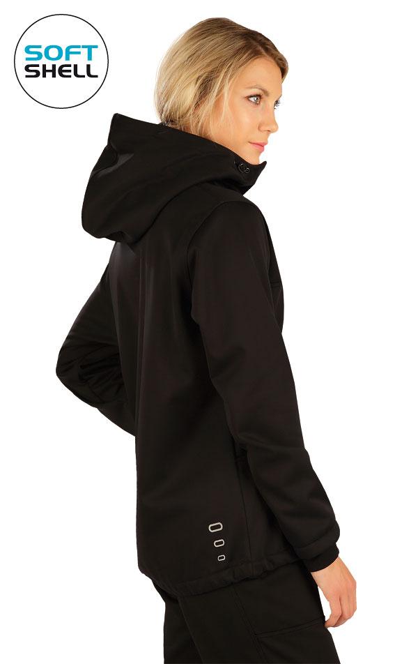 Bunda dámska softshellová s kapucňou. 7A208 | Bundy, vesty LITEX