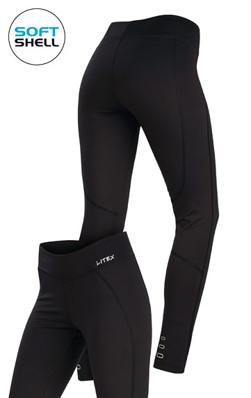 Nohavice zateplené, nohavice softshellové > Legíny dámske dlhé softshellové. 7A211