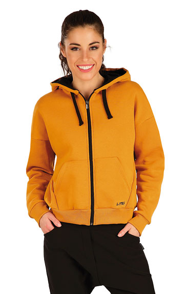 Mikina dámska na zips s kapucňou.