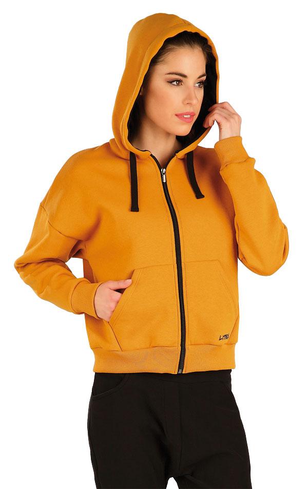 Mikina dámska na zips s kapucňou. 7A306   Bundy, vesty LITEX