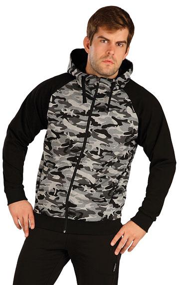 Pánske športové oblečenie > Mikina pánska na zips s kapucňou. 7A335