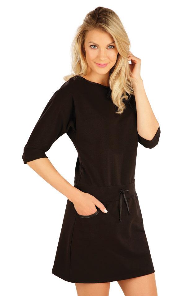Šaty dámske s 3/4 rukávom. 7A349   Šaty, sukne, tuniky LITEX