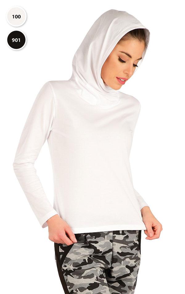 Tričko dámske s prekríženou kapucňou. 7A364 | Tielka, trička, halenky LITEX