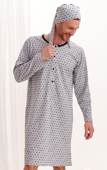 Pyžamá, nočné košele > Nočná košeľa pánska s čiapočkou. 7A521