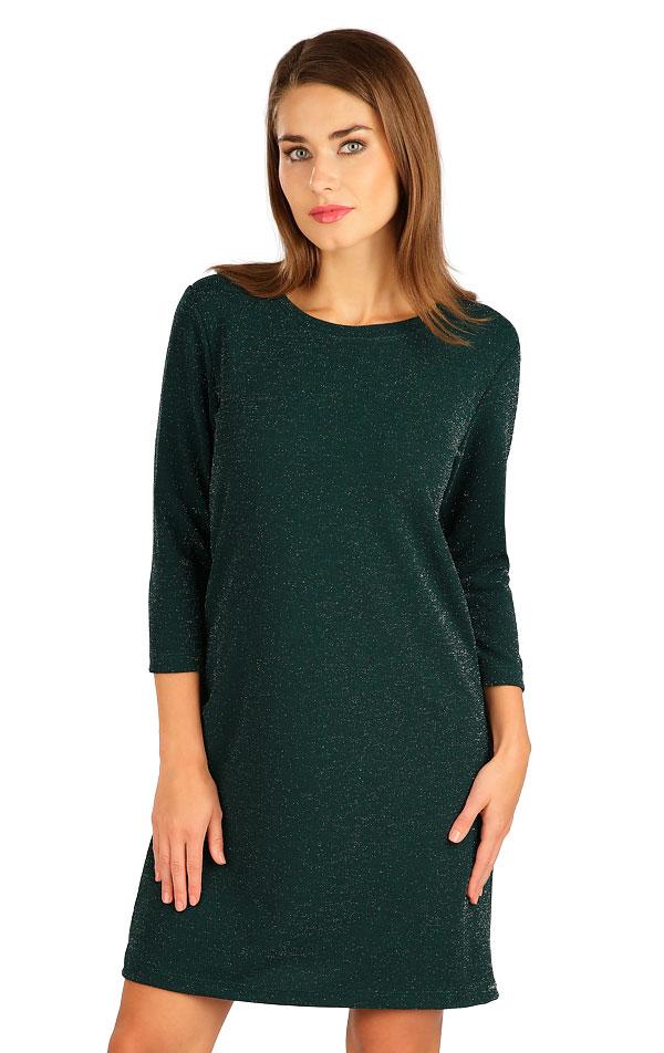 Šaty dámske s 3/4 rukávom. 7B030   Šaty, sukne, tuniky LITEX