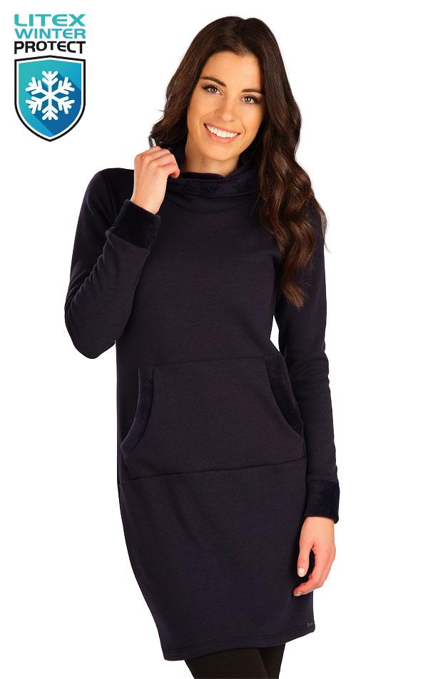 Mikinové šaty s kapucňou. 7B102 | Šaty, sukne, tuniky LITEX