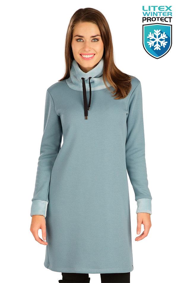 Mikinové šaty s dlhým rukávom. 7B109   Šaty, sukne, tuniky LITEX
