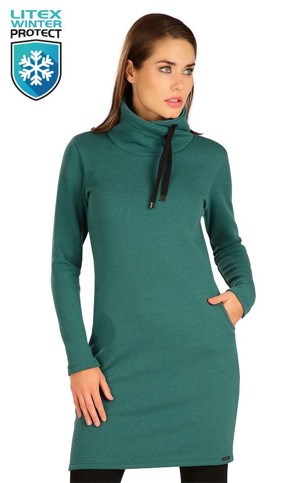 Mikinové šaty s dlhým rukávom. 7B115 | Šaty, sukne, tuniky LITEX
