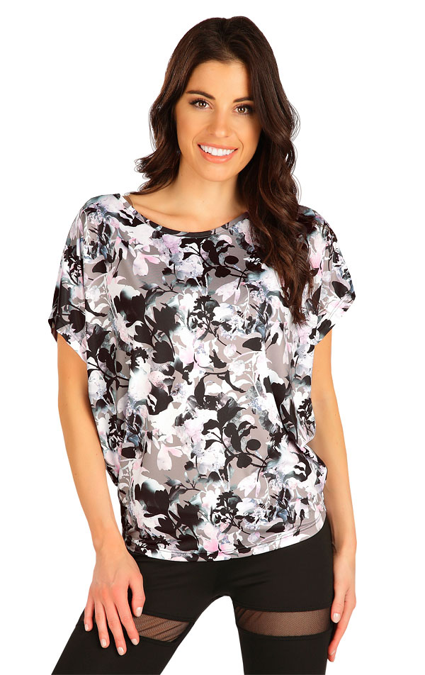 Tričko dámske s krátkym rukávom. 7B156   Tielka, trička, halenky LITEX