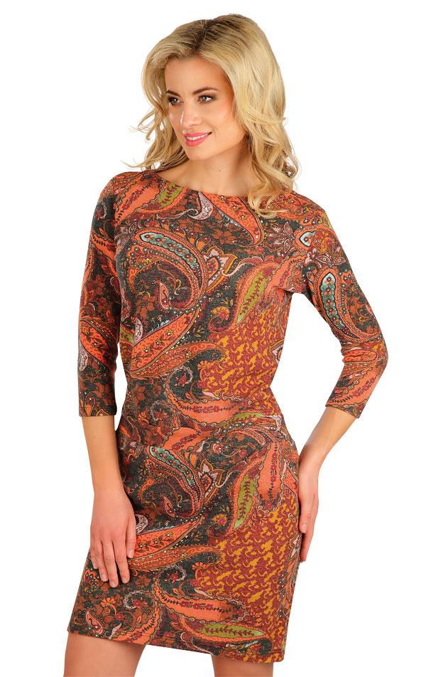 Šaty dámske s 3/4 rukávom. 7B293   Šaty, sukne, tuniky LITEX