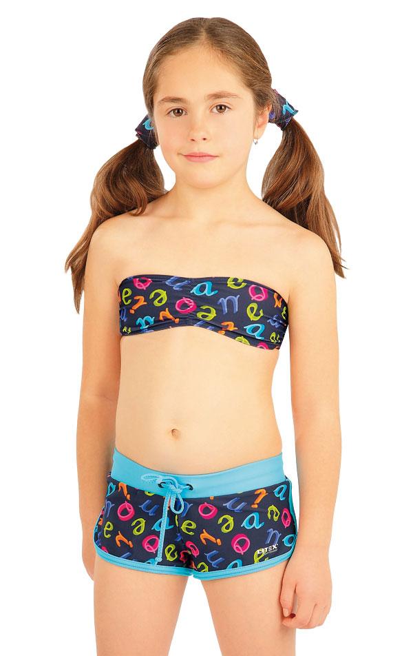 Dievčenské plavkové kraťasy. 88485 | Detské plavky - zľava LITEX