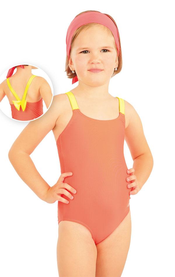 Jednodielne dievčenské plavky. 88493 | Detské plavky - zľava LITEX