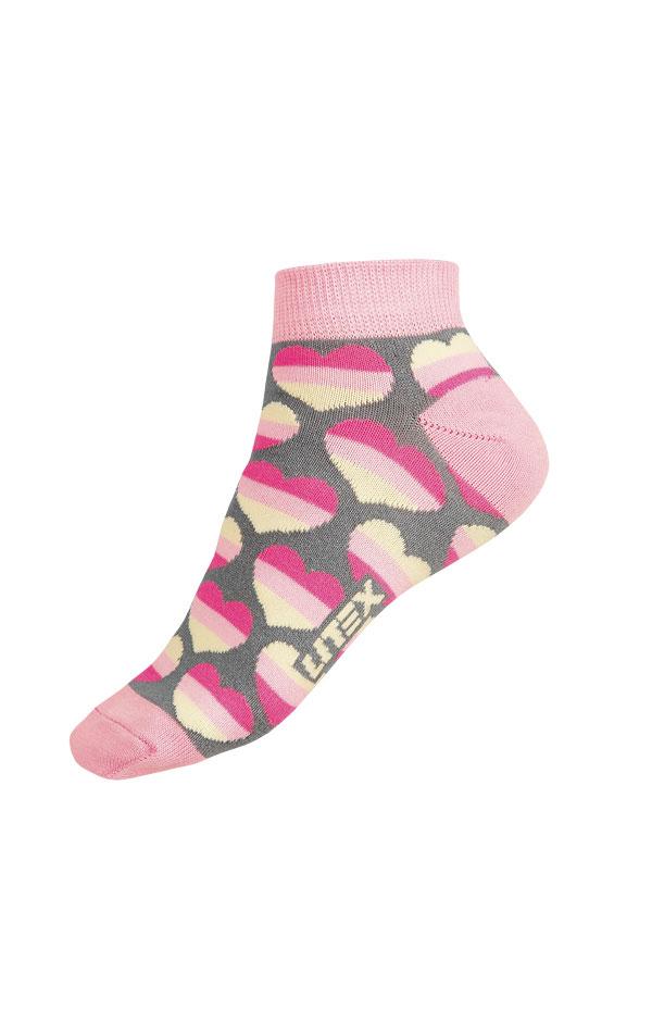 Dizajnové ponožky nízke. 9A004 | Ponožky LITEX