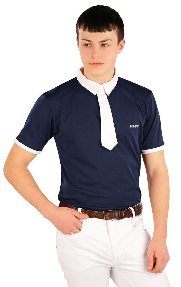 Polo tričko pánske závodné. J1137 | Jazdecké tričká LITEX