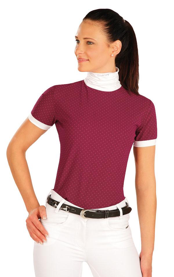 Tričko dámske s krátkymi rukávmi. J1169   Jazdecké tričká LITEX