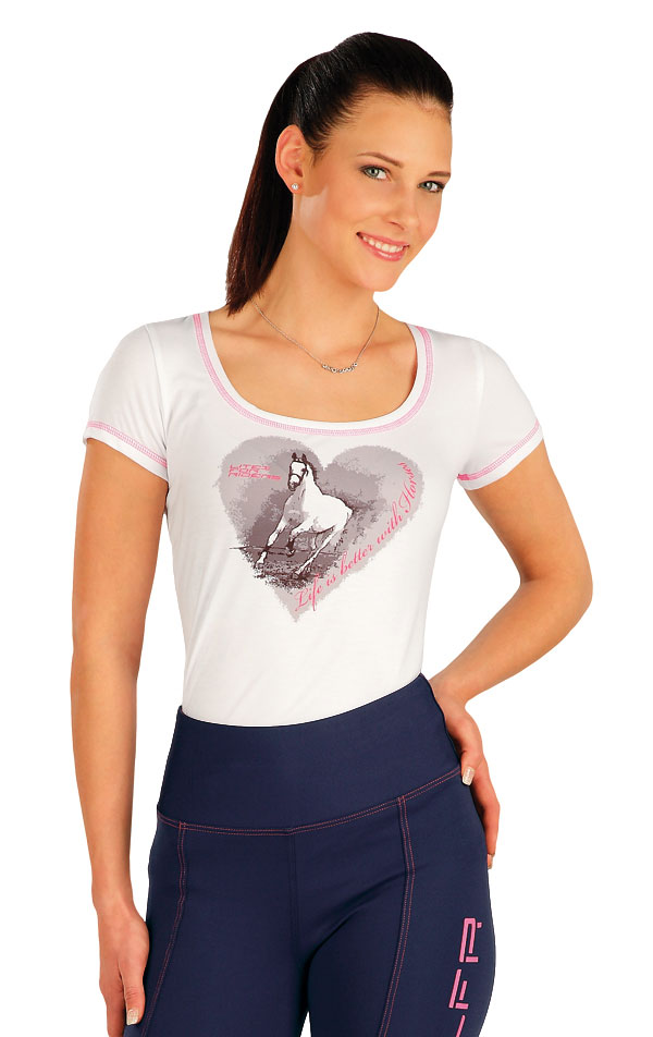 Tričko dámske s krátkymi rukávmi. J1182 | Jazdecké tričká LITEX