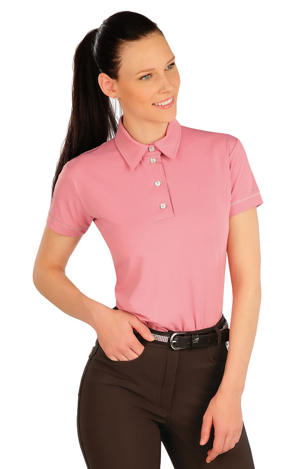 Polo tričko dámske s krátkym rukávom. J1246 | Jazdecké tričká LITEX